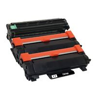 2 x Compatible TN760 Toner Cartridge New Chip & 1 x DR730 Drum Unit for Brother