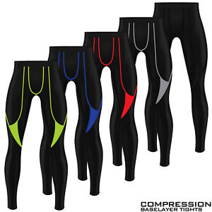 Mens Compression Tights Base Layer Gym Sports Under Armour Yoga Pant Trousers