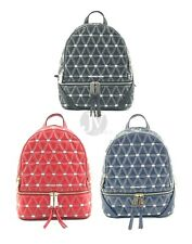 Michael Kors Rhea Zip Quilted Leather Medium Backpack Bookbag Bag