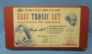 Vintage 1955 Science Electronics Erec-Tronic Set 200-B – Pre A.C. Gilbert - Nice
