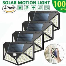 4X 100LED Lampe Solaire Applique Murale avec Détecteur de Mouvement Projecteur