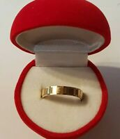 Vintage GWR 9ct Solid Yellow Gold Wedding Band Ring 2.58 Grams Sz 7 Not Scrap 4m