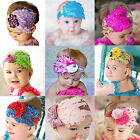 1 PC Baby Girl Kids Infant Feather Headband Hair Band Flower Toddler Headwear