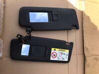 AUDI TT TTS 8S SUN VISOR BLACK PAIR 8S8857552