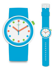 Swatch Pop Poppingpop Uhr PNW102 Analog  Silikon Blau