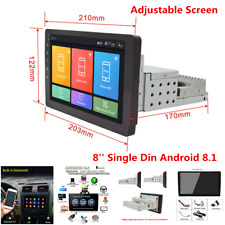 8'' Android 8.1 Adjustable Screen Car Stereo Radio Player GPS Wifi Mirror Link