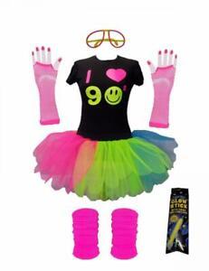 I Love 90s Girls Kids Fancy Dress Costume Set Tutu T-Shirt Legwarmers Honey B's®