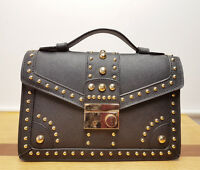 Brand New Black Studded Vegan Leather Box Cross Body/Shoulder Bag *CLEARANCE*