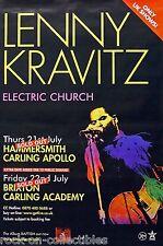 Lenny Kravitz 2005 Electric Church Tour Subway Concert Poster London, U.K.