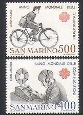 San Marino 1983 Postman/Bike/Bicycle/Radio/Communications 2v set  (n34643)