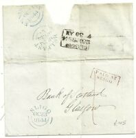 # 1844 IRELAND RED FRAMED PAID AT SLIGO ON WRAPPER TO BANK OF SCOTLAND GLASGOW