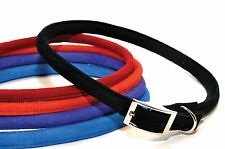 Dogline Round Soft Padded Comfortable Microfiber Durable Gentle Dog Collar