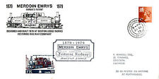 1979 FESTINIOG RAILWAY MERDDIN EMRYS CARRIED FDC R'WAY LETTER STAMP