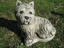 westie dog stone garden ornament <<VISIT MY SHOP>>