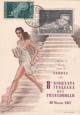 * VERONA - 8a Giornata Italiana del Francobollo 1947 Longato
