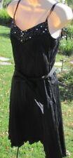 ESPRIT BLACK DRESS NEW Size 0 Lined Embellished Broomstick Career Club