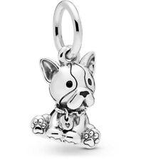 💎 New PANDORA Dangle Charm - Bulldog Puppy & Pouch S925 ALE 798008EN16