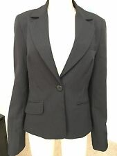 ATMOSPHERE SIZE 14 BLACK PIN STRIPED SMART BUSINESS JACKET PERFECT  CONDITION