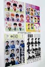 EXO Stickers 4 Sheet (13cm * 8cm) SEALED K-POP NEW