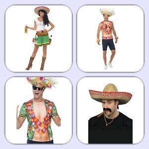Tequila Kostüm,Frauenkostüm,Hawai Hemd,Shirt,Mexiko,Strohhut,Hut,Herren,Karneval