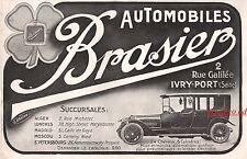 Publicité Automobiles BRASIER Ivry-Port car vintage print ad  1914 -11I