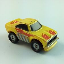 Micro Machines Vehicle Lot Car DODGE CHARGER FUNNY CAR yellow Red Flames Muscle