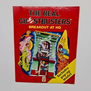 The Real Ghostbusters: Breakout At HQ - Carnival Books 1988 - Pop Up Firehouse