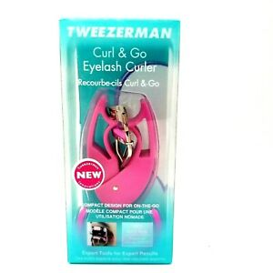 Tweezerman Curl and Go Eyelash Curler Compact Design On The Go Expert Tools NEW