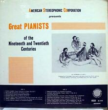 Various - Great Pianists Of 19Th And 20th Centuries LP VG+ A 119 Vinyl Record
