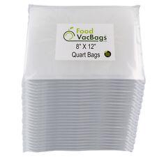 1200 QUART 8x12 FoodVacBags 4mil for FoodSaver Vacuum Sealer Bags Embossed CASE