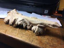 Original Large Iguana Sculpture Wood Carving Lizard Large Figurine Home Decor