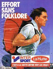 Publicité advertising 1985 Les magasins de sport La Hutte Inter sport