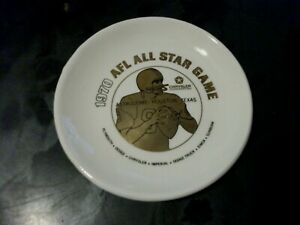 "RARE 1970 AFL FOOTBALL ALL STAR GAME PLATE 4 1/4"" LAST AFL GAME EVER PLAYED, NEW"