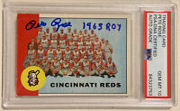 1963 Topps PETE ROSE Signed Autograph Rookie Reds Team Baseball Card PSA/DNA 10
