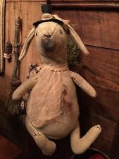 Primitive Spring Easter Bunny Rabbit Large Cupboard Tuck Shelf SitterCottage