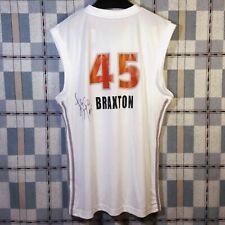NWT Adidas WNBA Phoenix Mercury White Jersey Kara Braxton #45 Autographed Sz M