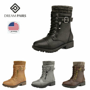 SALE GIRLS H4063 MILITARY STYLE BOOTS  BY SPOT ON Retail Price £4.99