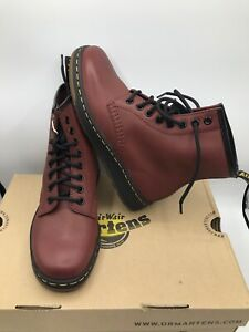 DR. MARTENS CHERRY RED TEMPERLEY BOOTS 21856600 MEN'S SIZE 13