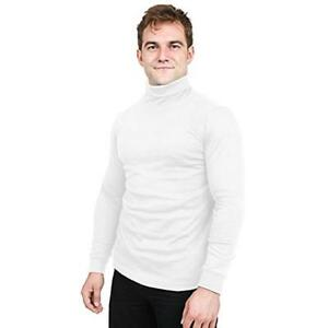 Turtleneck T-Shirt For Men Long Sleeves Tailored Comfort Fit Lot Utopia Wear