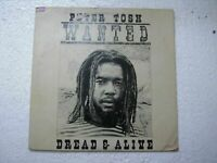 PETER TOSH WANTED DREAD AND ALIVE RARE LP RECORD vinyl 1981 INDIA INDIAN ex