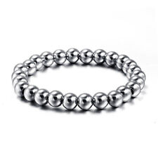 8mm Stainless Steel Balls Bracelet Men Women's Engagement Wedding Fashion Bangle