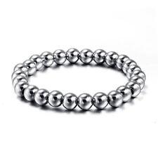 8mm Stainless Steel Balls Bracelet Men Women's Engagement Wedding Fashion Bangle
