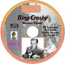 Bing Crosby, Various Shows  - 197 Old Time Radio Shows MP3 Audio 3 CDs 76 hrs