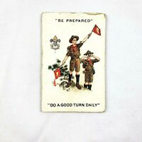 Vintage Boy Scouts of America 1916 Membership Card Paper Fold Out