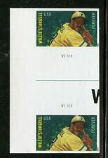Willie Stargell Imperf Gutter Pair with Plate #V11111 Mint Self-adhesive (L)