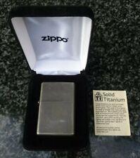 ZIPPO, SOLID TITANIUM, 03 LIGHTER ((EXTREMELY RARE))