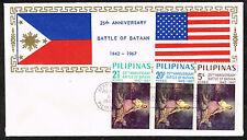 Philippines WW2 Battle of Bataan Imperial Japan's invasion 25 Ann FDC 1967