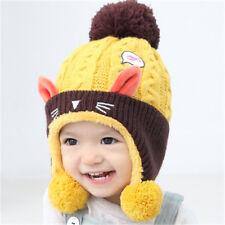 Baby Winter Hat Infant Beanie Cap For Animal Cat Ear Kids Crochet Knitted Hat