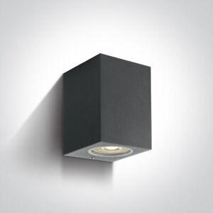 One Light wall Lights GU10 Outdoor Down Wall Light 67426/AN