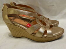Sofft Sandals Metallic Wedge Platform Espadrille Leather Womens Shoes 9M $99